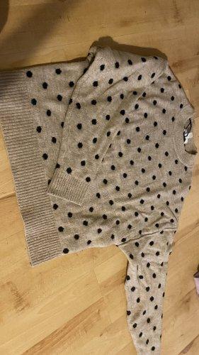 H&M Wełniany sweter beżowy-czarny