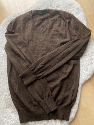 Polo Ralph Lauren Jersey de lana marrón oscuro