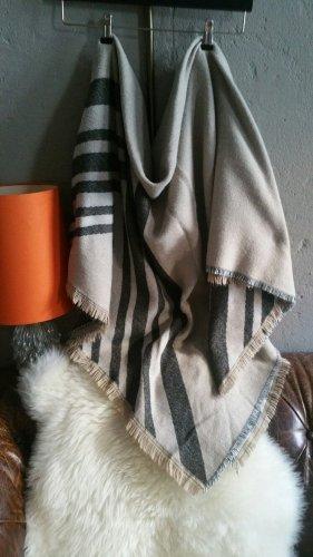 Warmes Schaltuch Wendetuch ZARA sand/taupe-braun