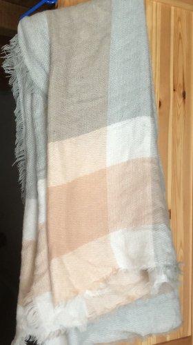 Wollen sjaal lichtgrijs-bruin