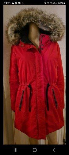Warne Jacke mit Kaputze in Rot Esprit