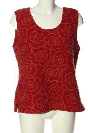 Waschbär Fijn gebreide cardigan rood bloemenprint casual uitstraling