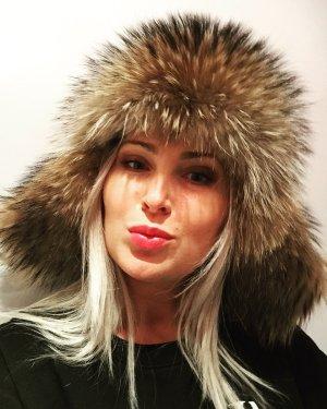 Gorra de caza negro-beige Cuero