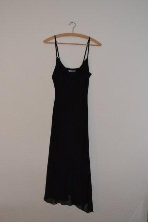 Wasserfall Abendkleid lang schwarz