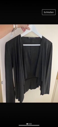 Zara Basic Blazer in pelle nero