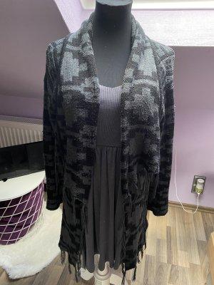 Aniston Cardigan in maglia grigio-nero