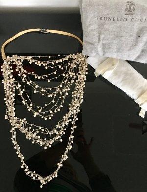 Brunello Cucinelli Pearl Necklace multicolored