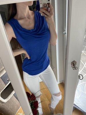 Cowl-Neck Top blue