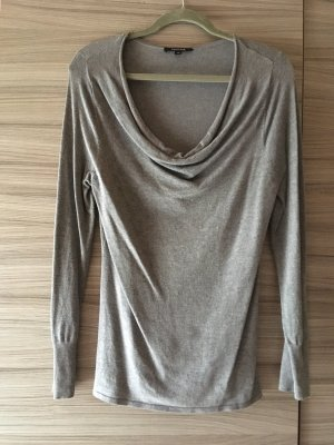 Comma Pull long gris clair viscose