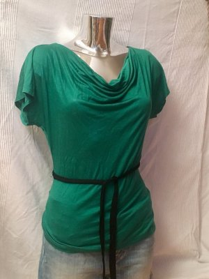 H&M Cowl-Neck Shirt green-forest green