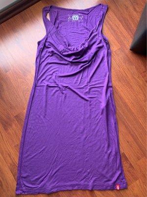 edc Camisa con cuello caído lila