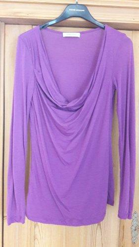 René Lezard Cowl-Neck Shirt lilac modal fibre