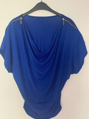 Camisa con cuello caído azul