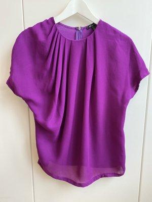 Mango Cowl-Neck Shirt lilac
