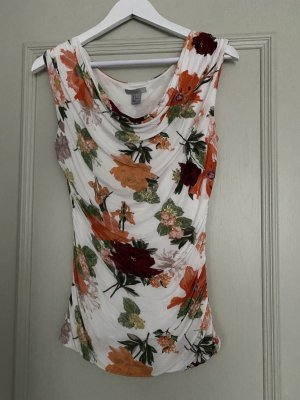 H&M Camisa con cuello caído multicolor