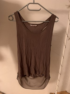 Cowl-Neck Shirt light brown-taupe