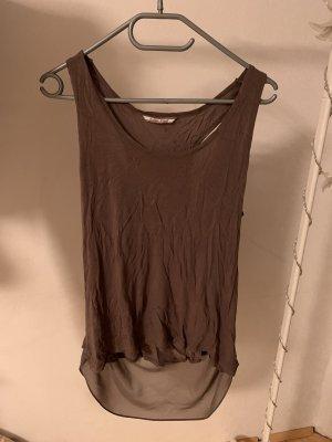 Koszulka z dekoltem woda jasnobrązowy-taupe