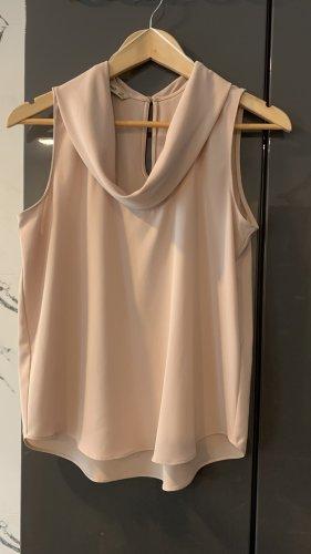 Zara Basic Top tipo cascada crema