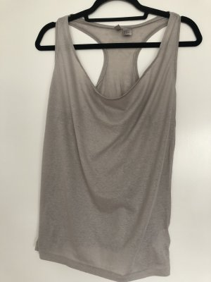 H&M Top tipo cascada beige claro-gris claro