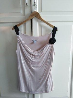 H&M Top tipo cascada negro-rosa