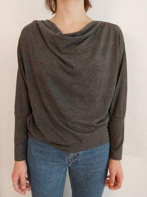 Opus Camisa con cuello caído gris antracita