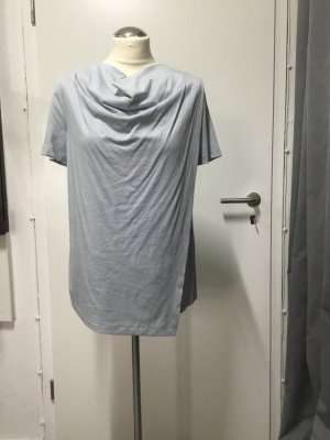 COS Camisa con cuello caído azul celeste