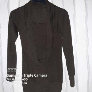 .12 puntododici Lang shirt donkerbruin