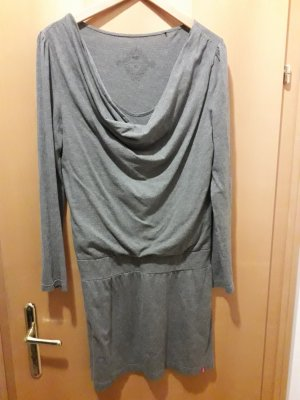 Edc Esprit Camisa con cuello caído gris oscuro