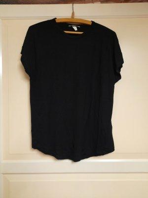 HM Koszulka z dekoltem woda czarny