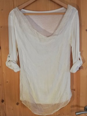 Cowl-Neck Shirt white-natural white