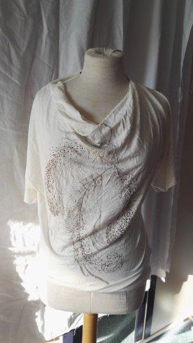 Blind Date Koszulka z dekoltem woda jasnobeżowy Wiskoza