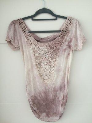 Cowl-Neck Shirt pink-mauve
