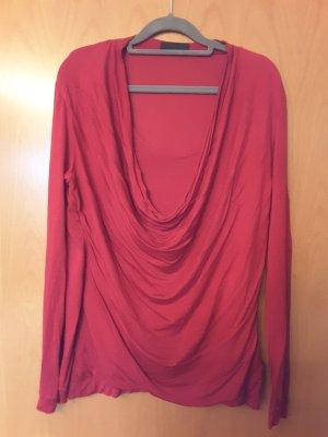 Sônia Bogner Camisa con cuello caído rojo oscuro-rojo neón