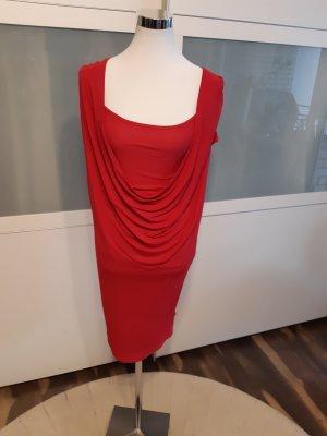 Kookai Vestido estilo camisa rojo frambuesa Viscosa