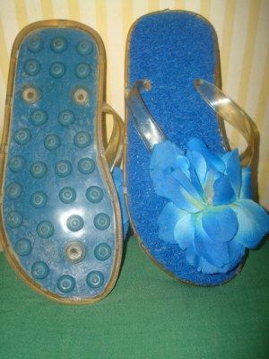 Sandalias con talón descubierto azul