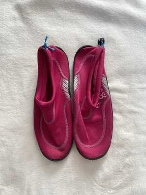 Składane baleriny czarny-różowy
