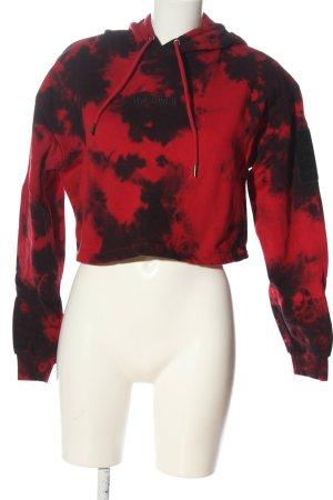Wasted paris Bluza z kapturem czerwony-czarny Na całej powierzchni