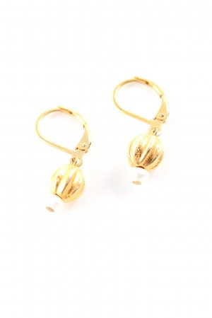 Waszak Boucles d'oreilles en perles doré élégant