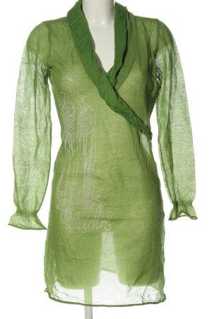 Watcher Longpullover grün-weiß Motivdruck Casual-Look