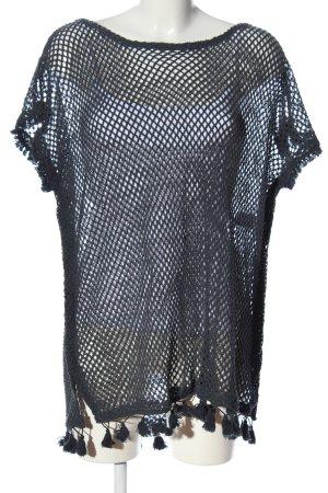 Watercult Gehaakte trui zwart Webpatroon casual uitstraling