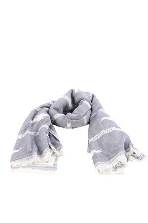 Watercult Strandtuch graublau-weiß abstraktes Muster Fransenbesatz