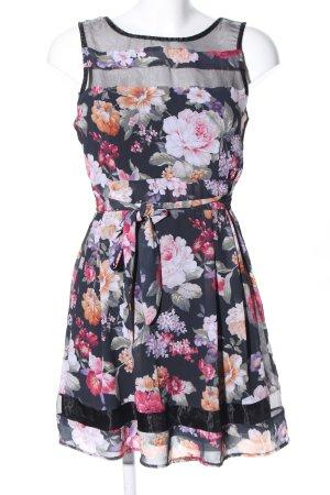 A-Linien Kleid Blumenmuster Casual-Look