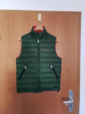 Armani Jeans Down Vest dark orange-forest green