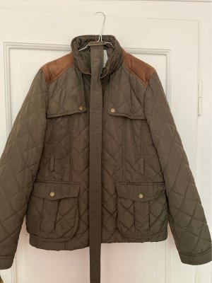 Denim Co. Quilted Jacket bronze-colored-green grey