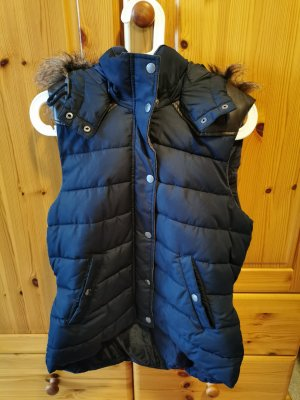 H&M Quilted Gilet dark blue
