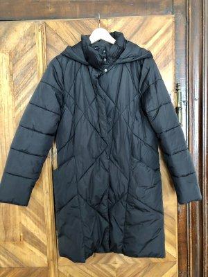 Cool Code Pikowany płaszcz czarny-srebrny Poliester