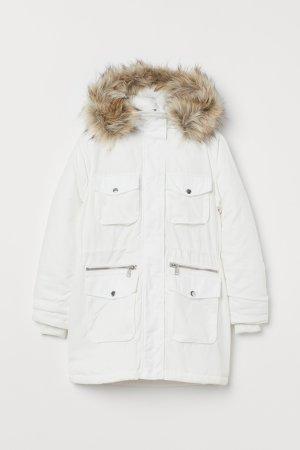 H&M Parka bianco-grigio chiaro