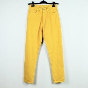 Jeans boyfriend jaune primevère