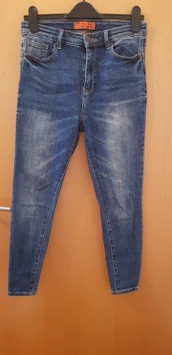 Wax jean Jeans a vita alta blu-blu scuro