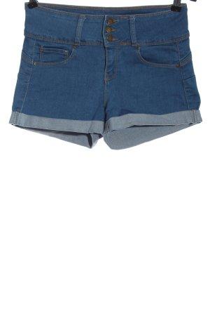Wax jean Pantaloncino di jeans blu stile casual